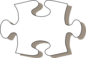298x201 Collection Of Puzzle Piece Clipart Black And White High