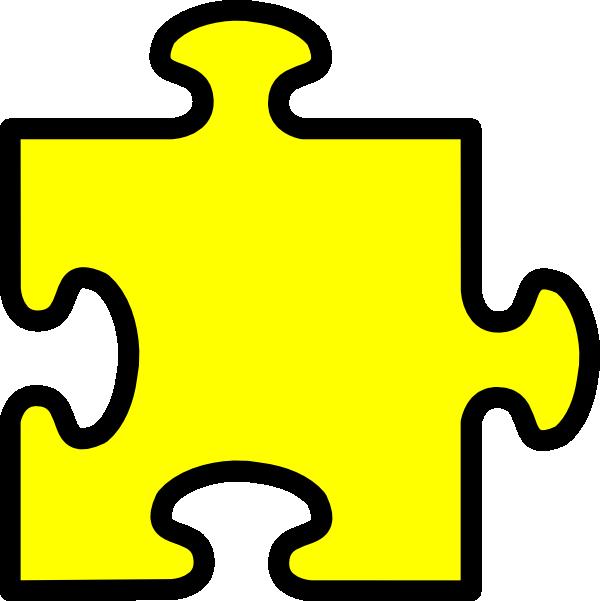 600x601 Yellow Puzzle Piece Clip Art