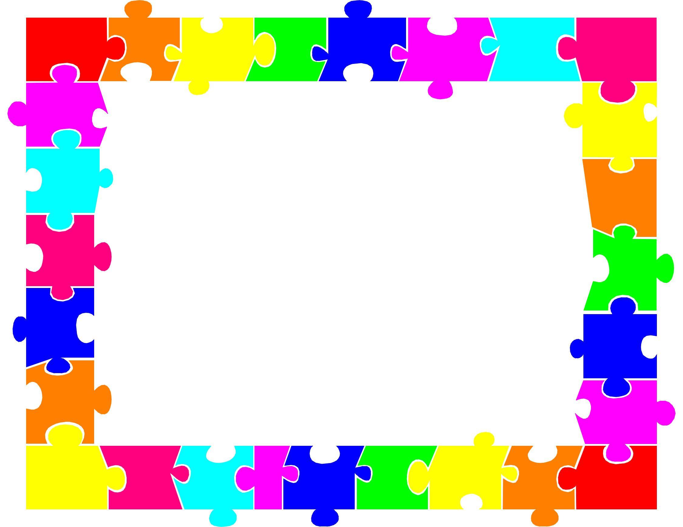 2249x1733 Jigsaw Puzzle Piece Border Digital Scrapbooking Freebies