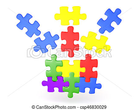 450x357 3d Illustration Of Jigsaw Puzzle Pieces Falling Into Place
