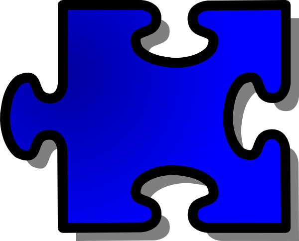 600x484 Blue Jigsaw Puzzle Piece Clip Art Free Vector 4vector