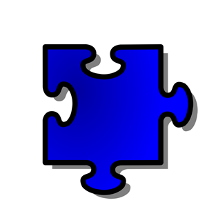 300x300 Blue Jigsaw Piece 10 Clipart, Cliparts Of Blue Jigsaw Piece 10