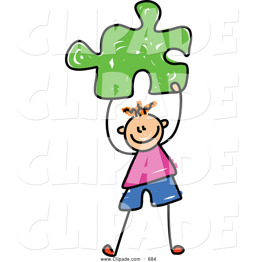 1024x1044 Clip Art Of A Cheerful Boy Holding A Green Puzzle Piece By Prawny