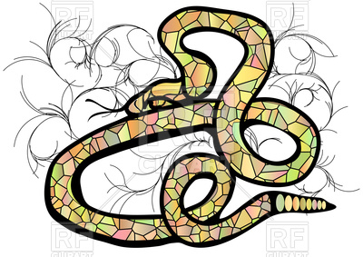 400x283 Illustration Abstract Colored Snake Royalty Free Vector Clip Art