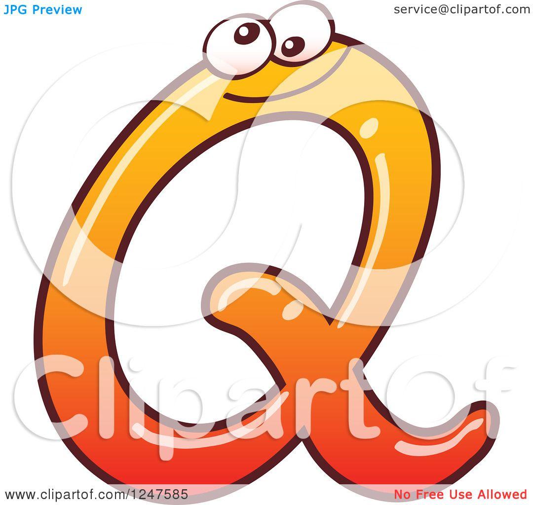 1080x1024 Clipart Of A Gradient Orange Capital Q Alphabet Letter Character