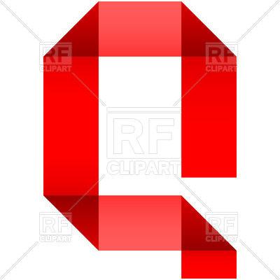 400x400 Alphabet Of Folded Paper Letter Q Royalty Free Vector Clip Art