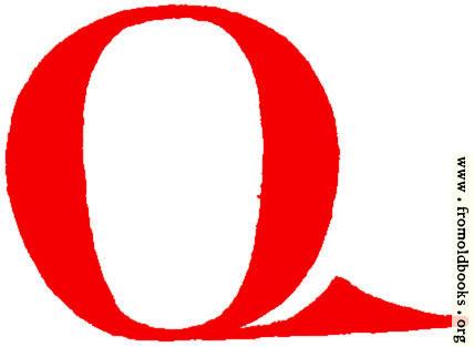 428x313 Clip Art Calligraphic Decorative Initial Capital Letter Q