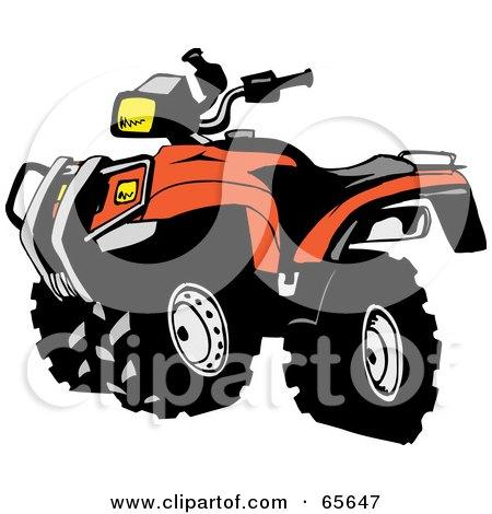 450x470 Royalty Free (Rf) Clipart Illustration Of A Black And Orange Atv