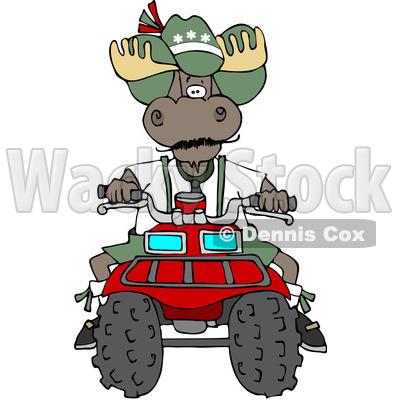 400x400 Royalty Free (Rf) Clipart Illustration Of Bull Moose Operating