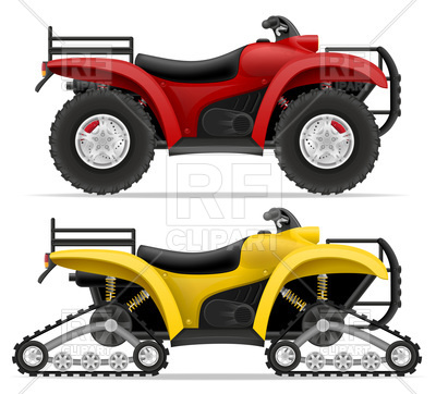400x362 Track Type And Four Wheel All Terrain Vehicle