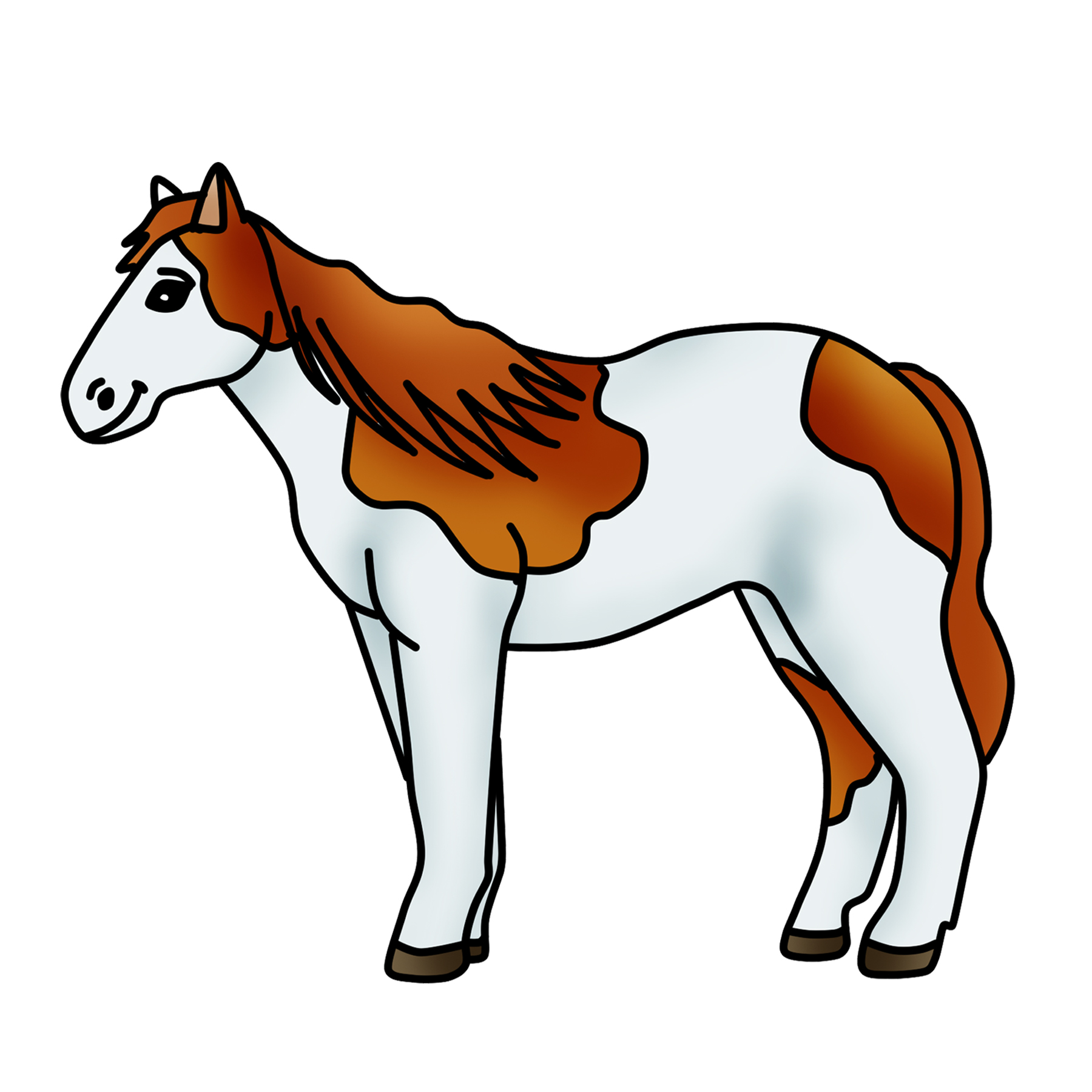 1800x1800 Endearing Free Horse Clipart 7 Vector Black And White Clip Art