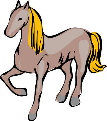 366x416 Free Brown Horse Clipart, 1 Page Of Public Domain Clip Art