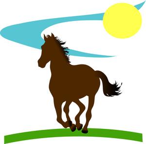 300x295 Quarter Horse Clipart