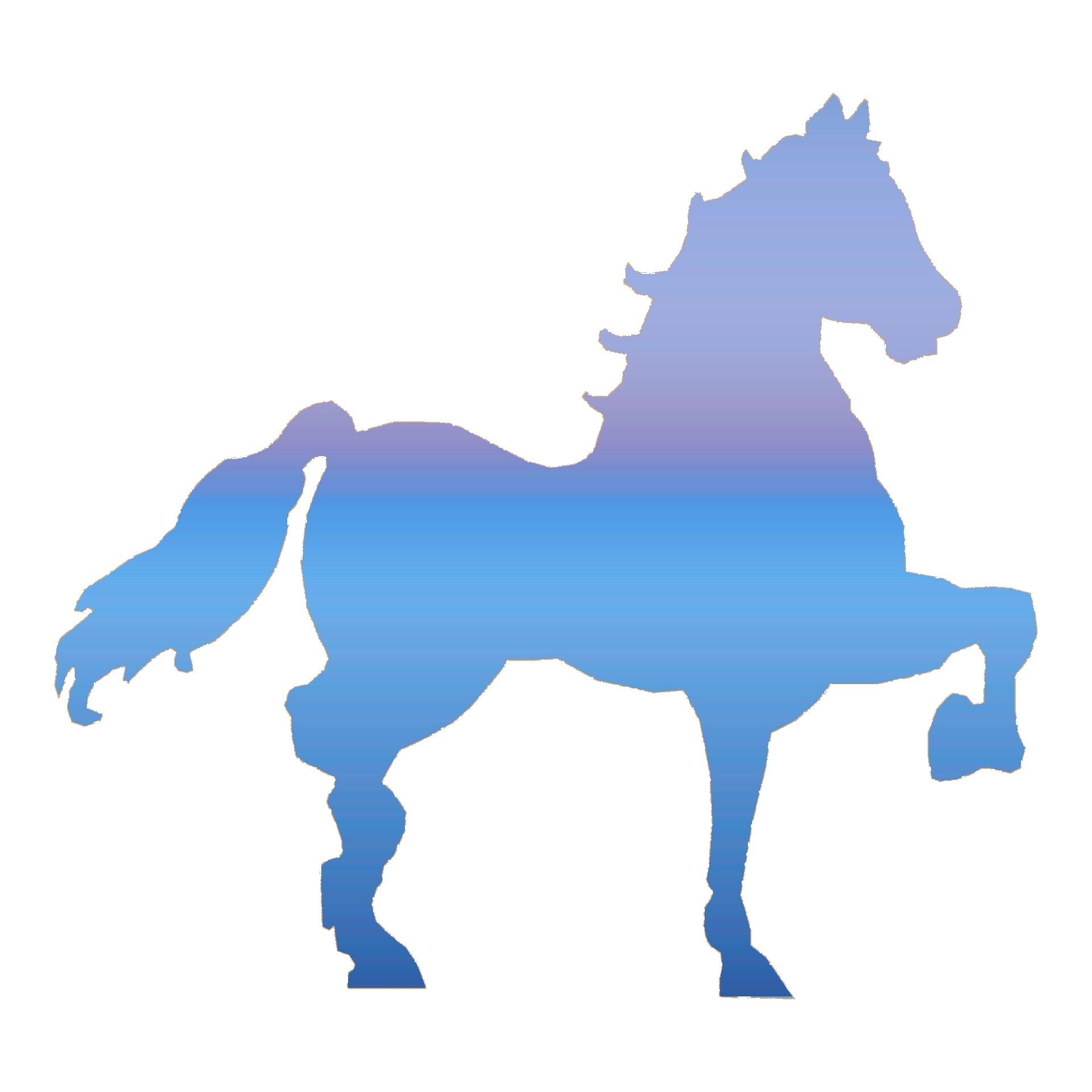 1920x1920 Blue Horse Cliparts