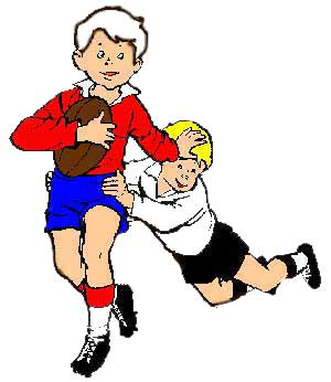 300x346 Receiver Clipart Rugby Player 3842898