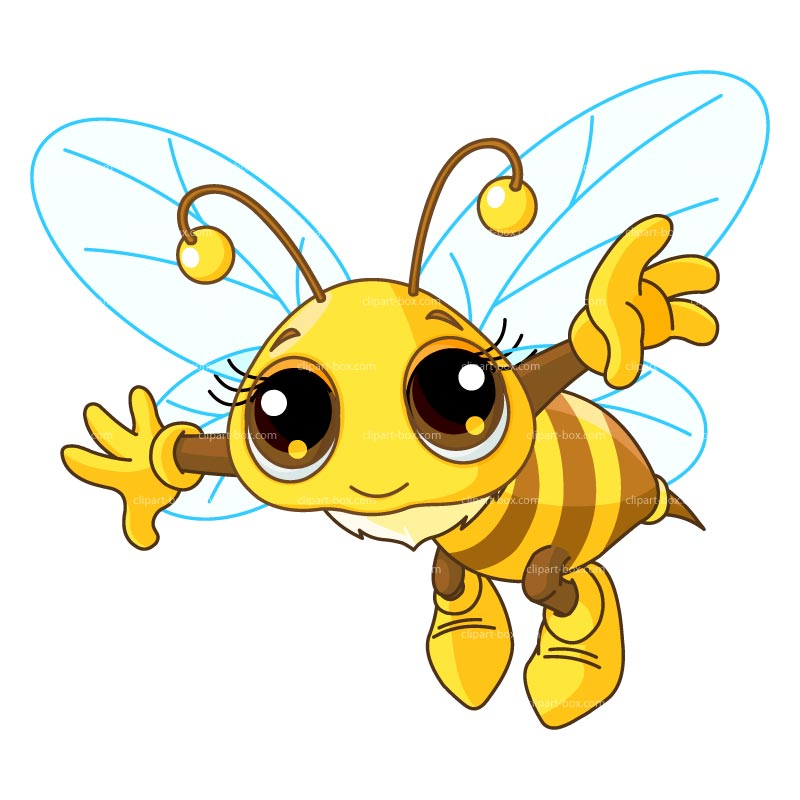 800x800 Image Of Flying Bee Clipart