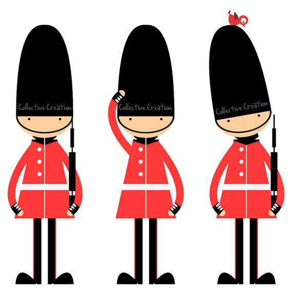 570x570 Elegant Soldier Clipart Queen S Guards Digital Clipart Clip Art