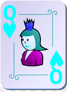 260x360 Queen Of Hearts Playing Card Clip Art