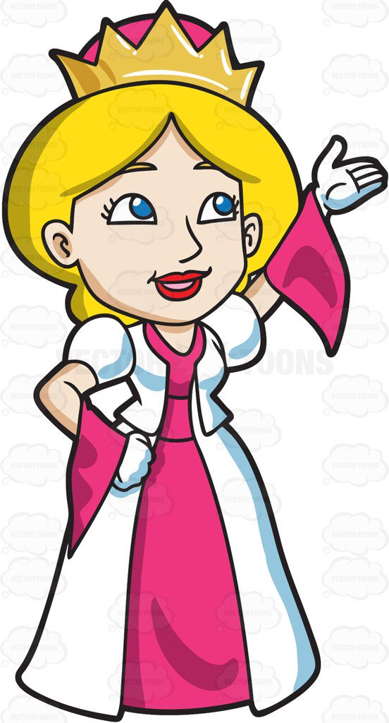 552x1024 Queen Clipart A Very Warm And Welcoming Queen Cartoon Clipart