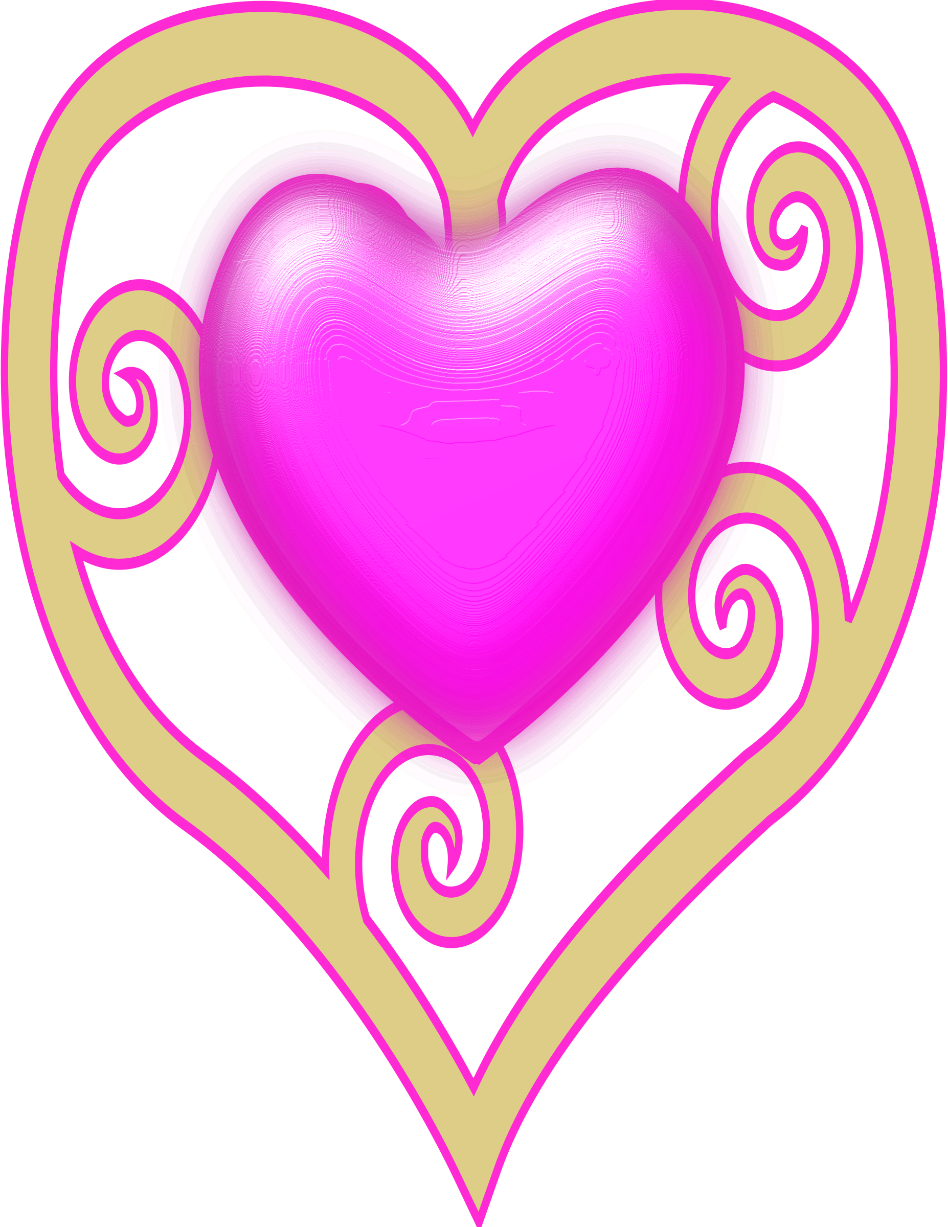 1854x2400 Heart Crown Clipart