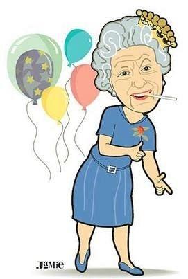 271x403 Queen Elizabeth Cartoon Clipart