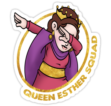 375x360 Dabbing Queen Esther For Purim Squad Stickers By Deesdesigns