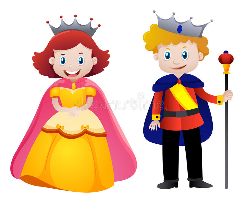 800x665 King And Queen Clipart Happy King And Queen Stock Vector