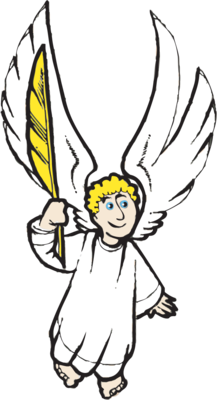 217x400 Image Angel With Quill Angel Clip Art