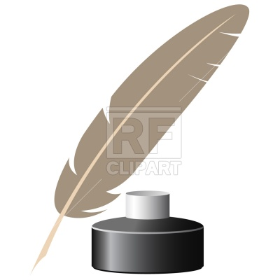 400x400 Inkpot And Feather Royalty Free Vector Clip Art Image