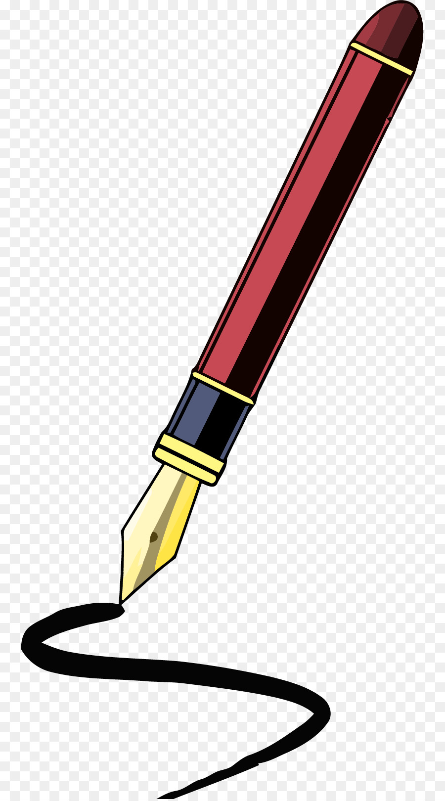 900x1620 Quill Fountain Pen Paper Clip Art