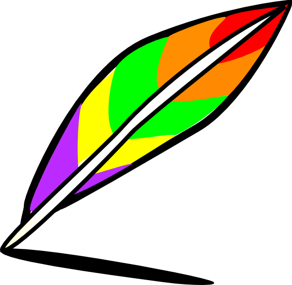 600x585 Quill Of Many Colors Clip Art