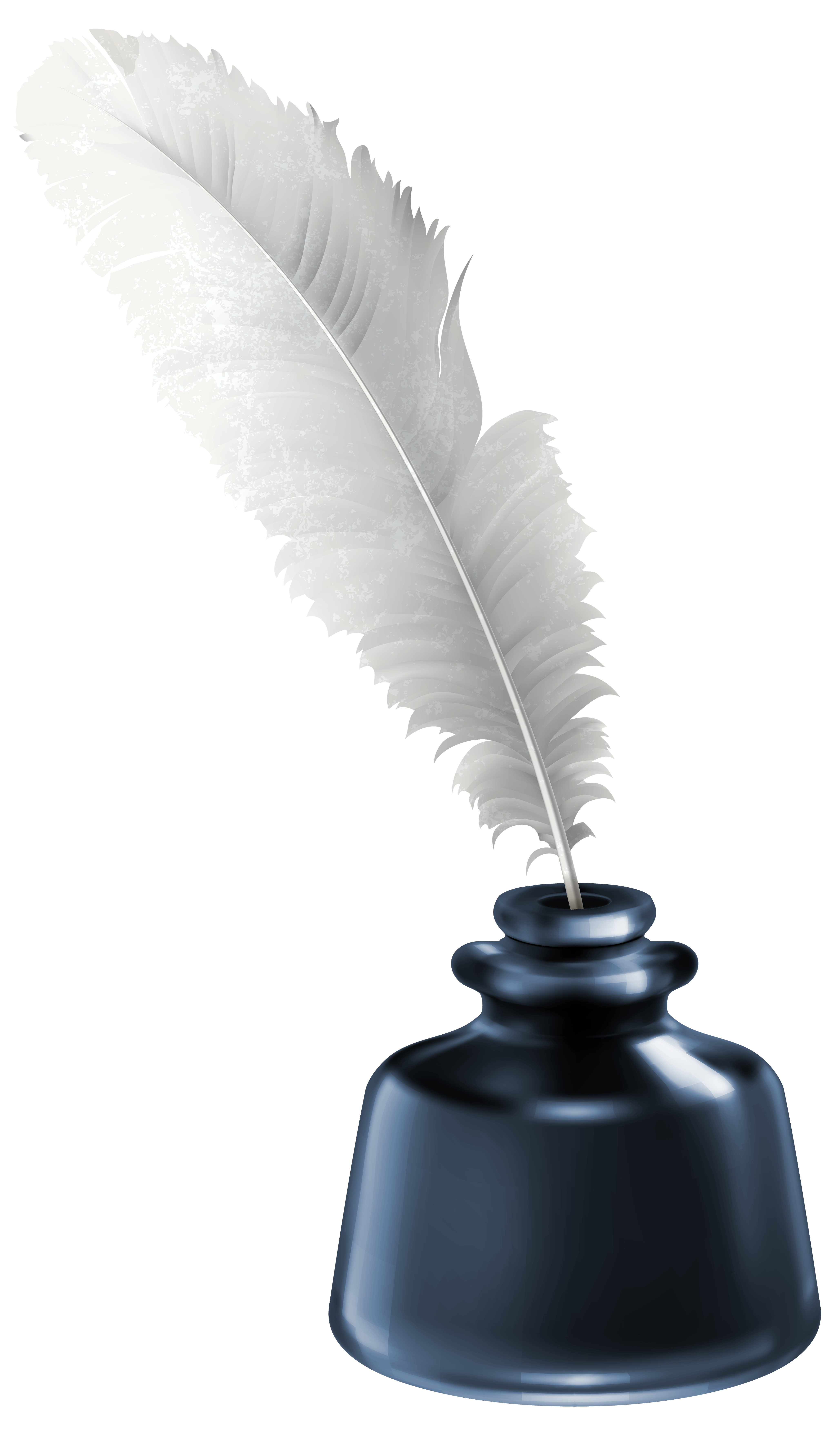4116x7000 Quill And Blue Ink Pot Transparent Png Clip Art Imageu200b Gallery