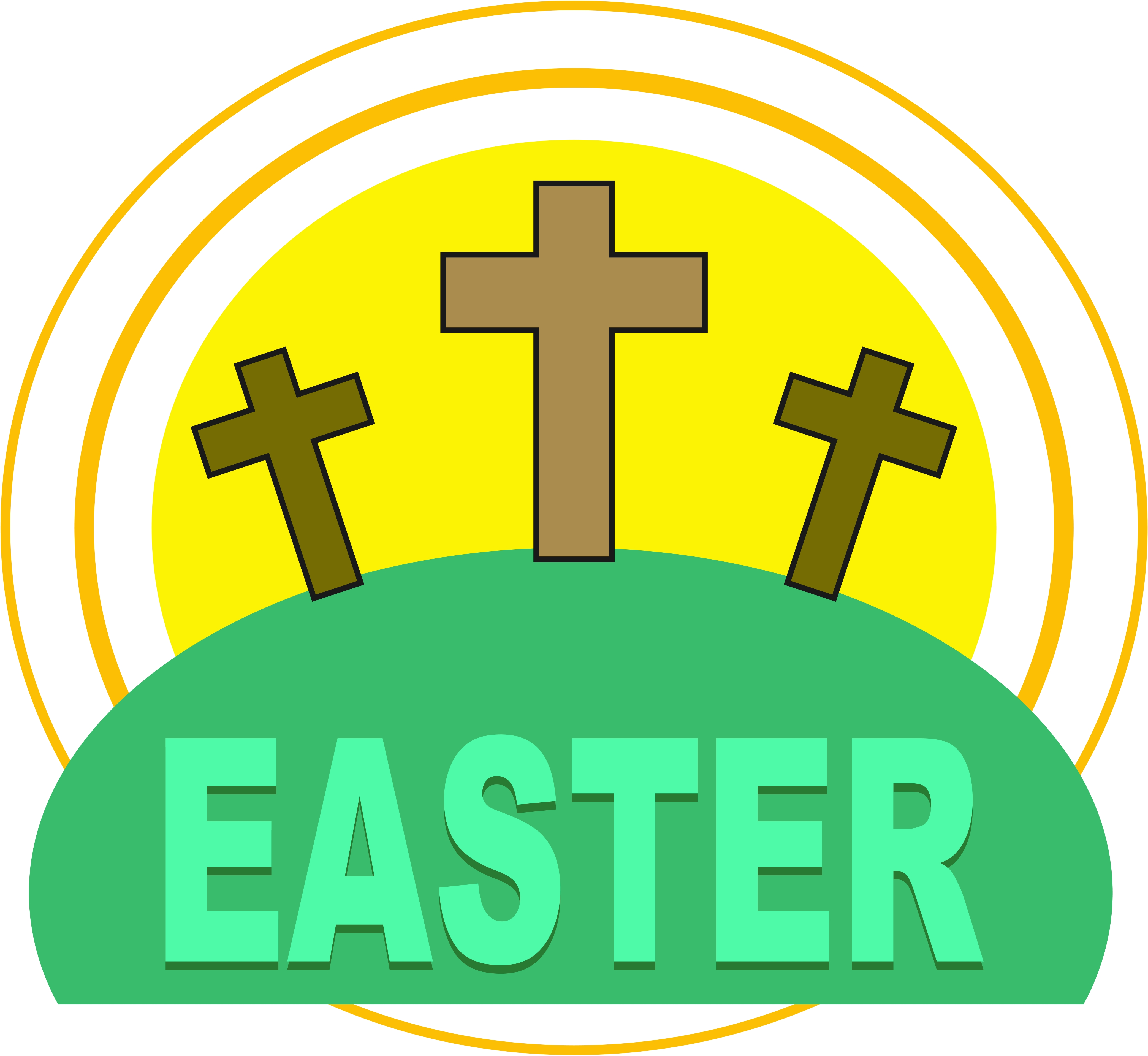4169x3835 Christian Easter Cliparts