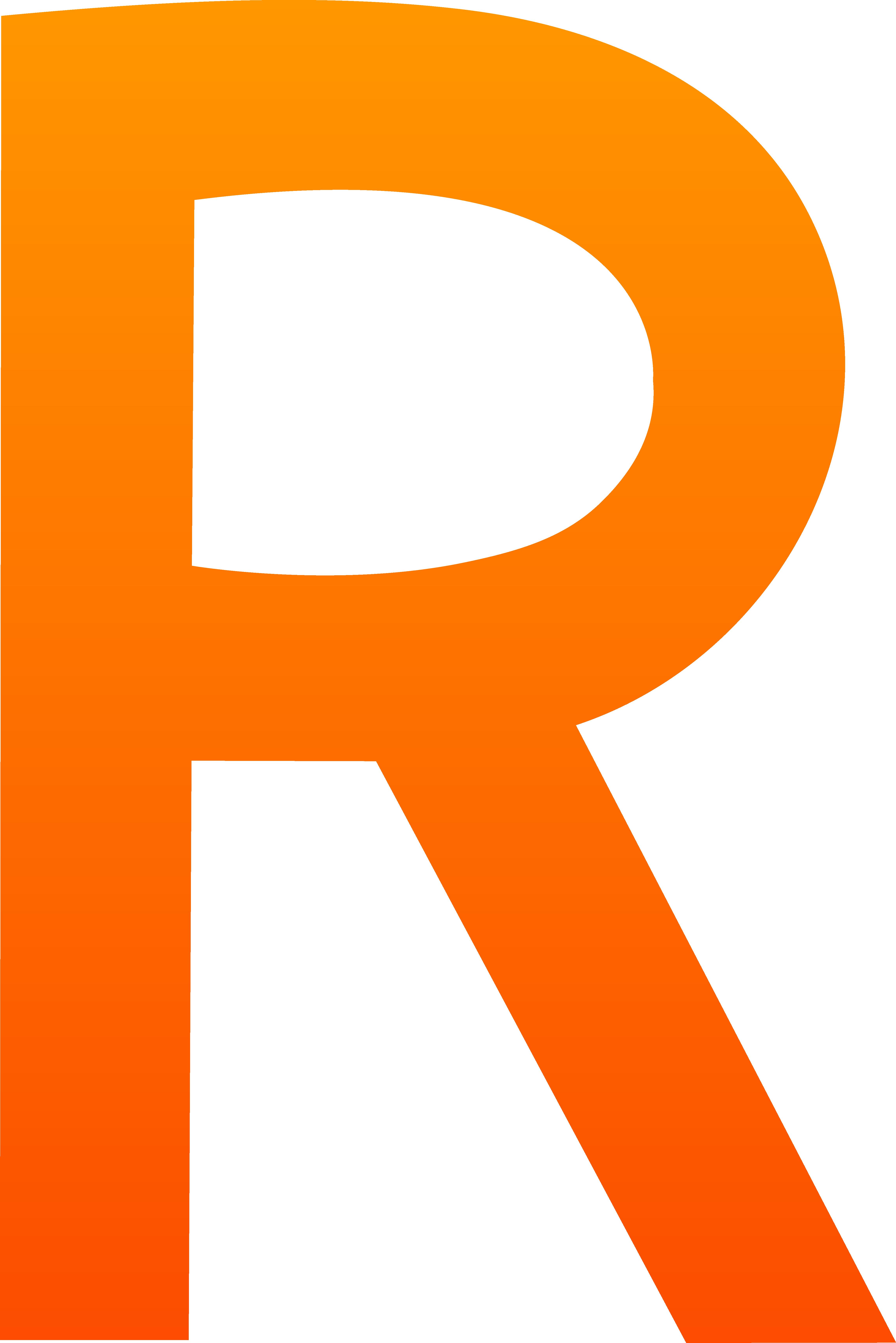 4581x6866 Letter R Clip Art