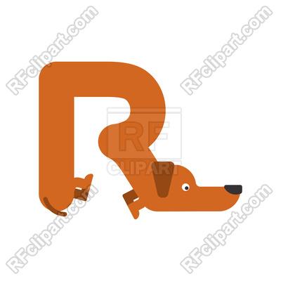 400x400 Letter R Dog Font Royalty Free Vector Clip Art Image
