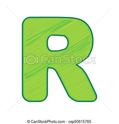450x470 Letter R Sign Design Template Element. Vector. Lemon Clip Art