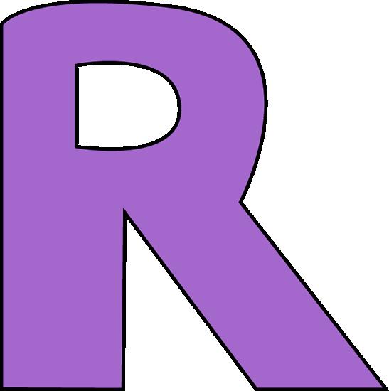 547x550 Purple Letter R Clip Art