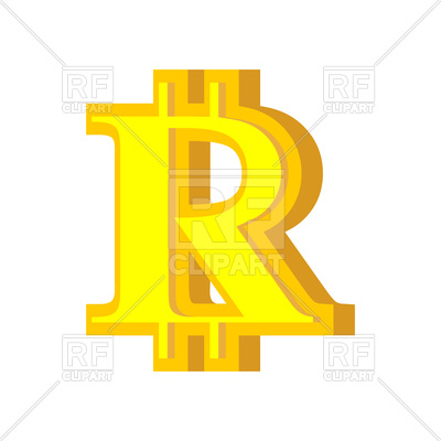 400x400 R Letter Bitcoin Font Royalty Free Vector Clip Art Image
