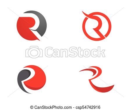 450x379 R Letter Logo Icon Design Template Vector Illustration Vector Clip