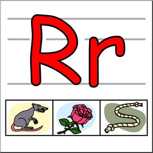 304x304 Clip Art Alphabet Set 01 R Color I Abcteach