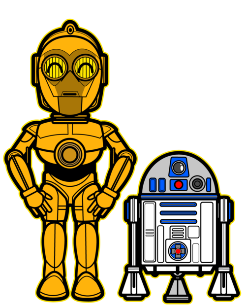 500x625 Kawaii C3 Po And R2 D2 A Long Time Ago In A Galaxy Far Away