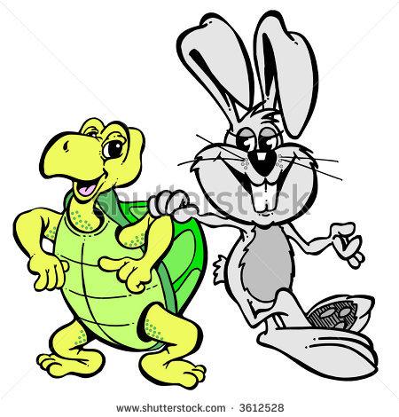 450x470 Rabbit And Tortoise Clipart