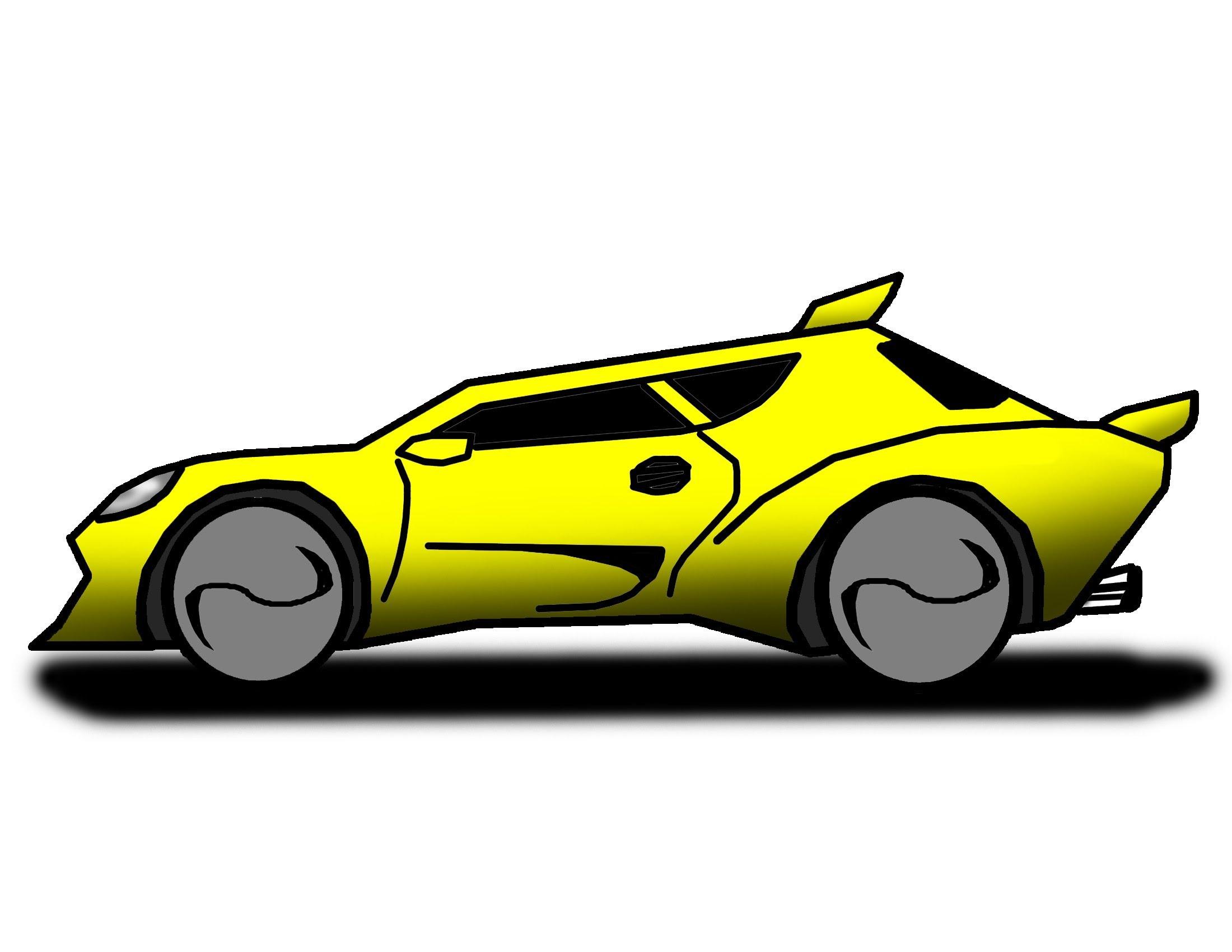 2200x1700 Cartoon Race Car