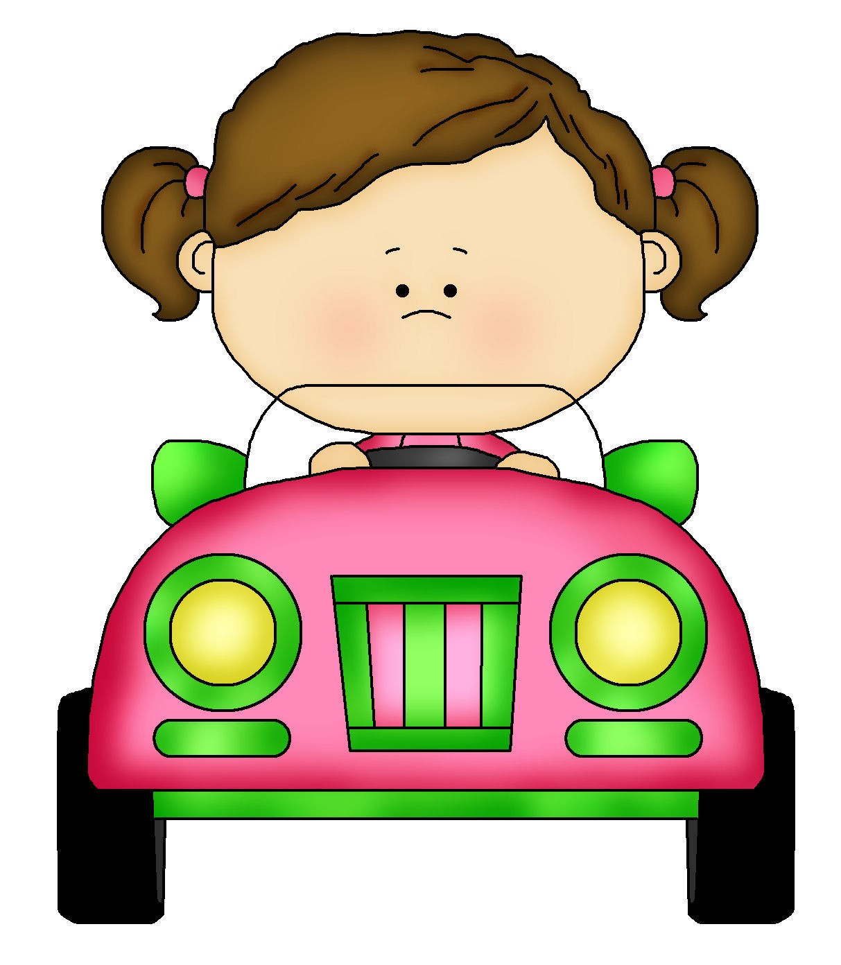 1213x1392 Girls In Car Clipart Collection