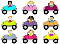 236x173 This Is A Set Of Brightly Colored Cars. You Can Add Stickers