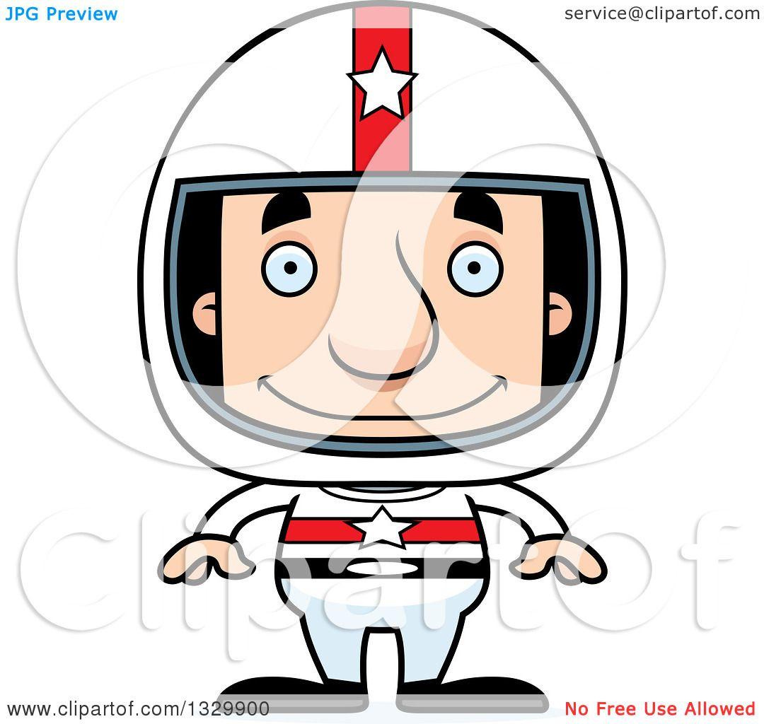 1080x1024 Clipart Of A Cartoon Happy Block Headed White Man Race Car Driver