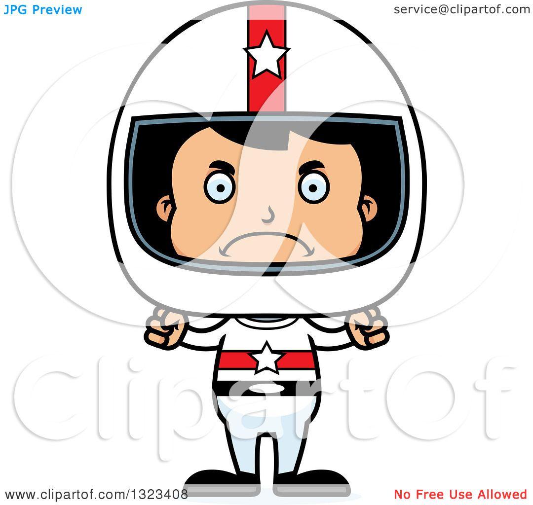 1080x1024 Clipart Of A Cartoon Mad Hispanic Boy Race Car Driver