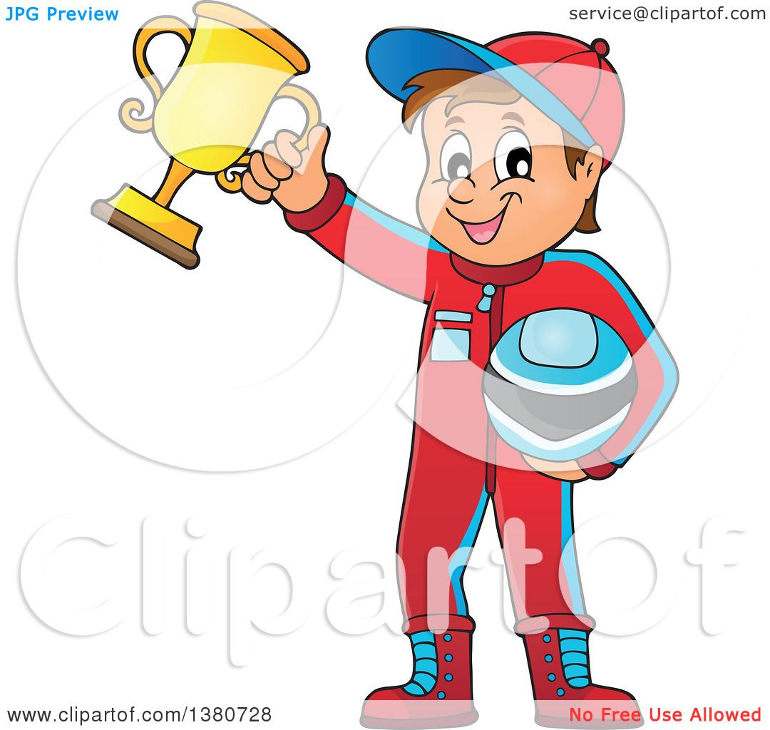 1080x1024 Clipart Of A Race Car Driver Holding His Helmet And First Place