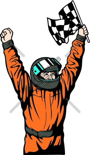 292x500 Race Car Driver Clipart
