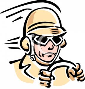 286x300 Royalty Free Clipart Image A Racecar Driver Wearing A Hat And Goggles